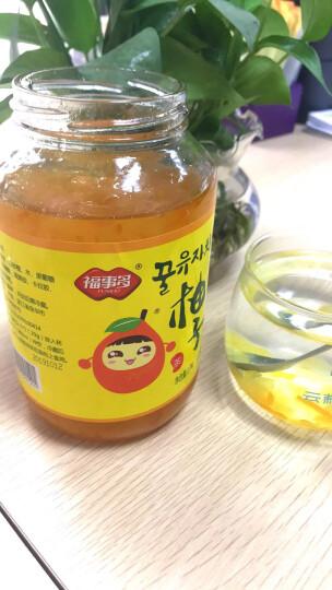福事多蜂蜜柚子茶1kg大瓶装 韩国风味冲饮果汁茶饮品 晒单图