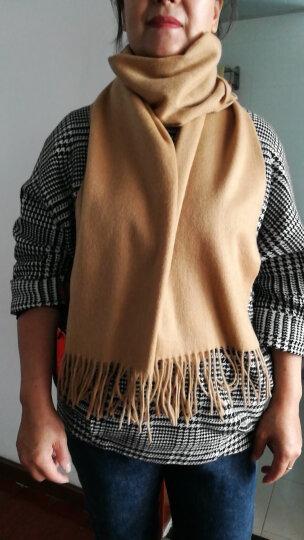 上海故事羊绒羊毛围巾男女款冬保暖围脖披肩177070 179029浅灰色 晒单图
