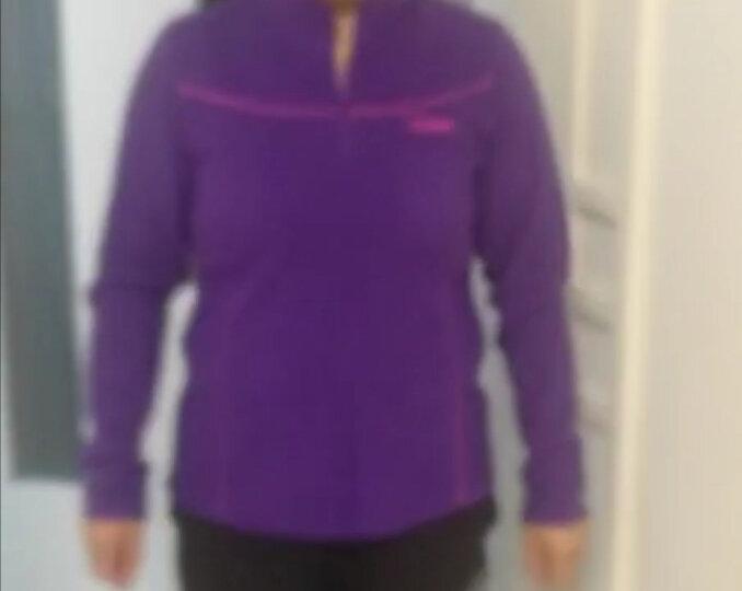 【秋冬爆款】思凯乐(SCALER) 户外抓绒衣男女款摇粒绒舒适保暖套头抓绒衣F8152461 紫色-女 L 晒单图