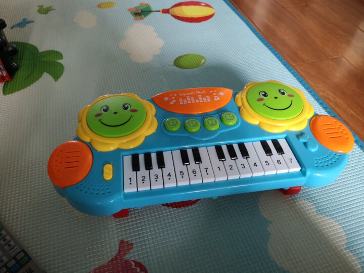 猫贝乐电子琴+翻翻书套装 儿童玩具电子琴音乐拍拍鼓 圈圈书识字卡男女孩宝宝早教机 生日礼物 晒单图