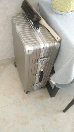 防刮合金铝框SGG行李箱拉杆箱复古旅行箱直角登机箱男女万向轮皮把手20寸可登机24寸26寸29寸 玫瑰金色-磨砂防刮 20寸登机箱 晒单图