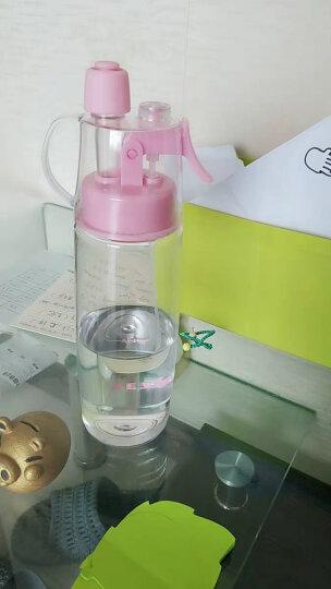 物生物喷雾水杯便携带盖Tritan材质塑料杯创意学生运动水壶太空杯子随手杯580ml 绿色 晒单图