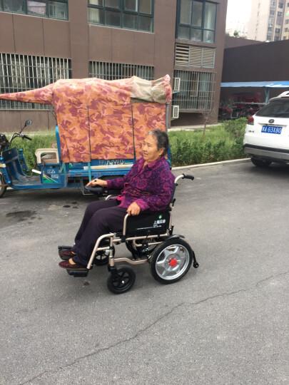 BEIZ 贝珍电动轮椅车老年人残疾人电动代步车 轻便可折叠智能全自动代步车升级纪念款 铝合金车架铅酸电池12安 晒单图
