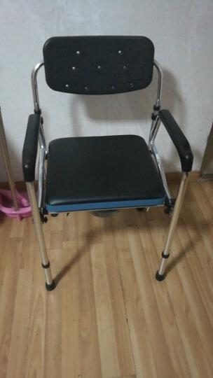雅德 老人坐便椅 孕妇座便椅可折叠老年坐便器移动马桶椅坐厕椅子增高器坐宽可调 铝合金款YC7802H(黑色) 晒单图