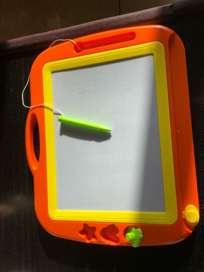 琪趣儿童超大号磁性画板8888A橙色  宝宝写字板小孩子涂鸦板婴幼儿男孩女孩绘画工具套装3-4-5-6岁绘画玩具 晒单图