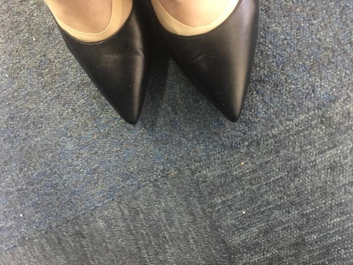 莱尔斯丹 细高跟鞋职业通勤上班鞋套脚女鞋尖头婚鞋细跟猫跟鞋高跟鞋 65001 橄榄绿色(8T) OLP 37 晒单图