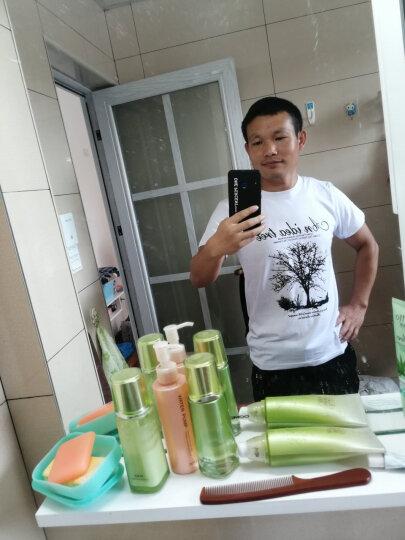 短袖t恤男夏季新款韩版男士青年半袖T恤圆领大码宽松衣服 G白项链白大树白金鹰白 L120-135斤 晒单图