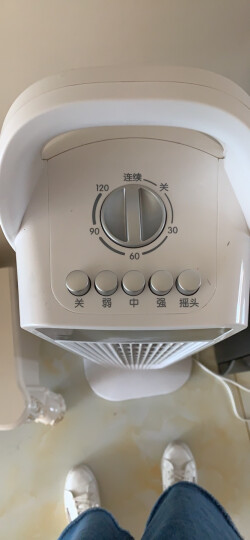 美的(Midea)FZ10-15BW 家用塔扇/电风扇/节能静音无叶风扇 晒单图