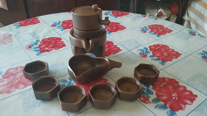 瓷牌茗 石磨半全自动茶具套装创意懒人泡茶器家用茶壶茶杯整套 拉丝沙金(天目釉)自动茶具 晒单图