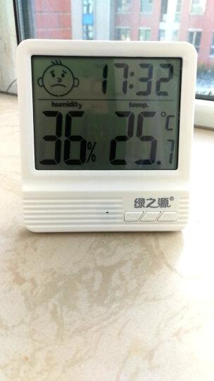 绿之源 电子温湿度计(笑脸款) 家用温度湿度计室内温度计浴室干湿度计婴儿房温湿度表湿度计节能带闹钟日历 晒单图