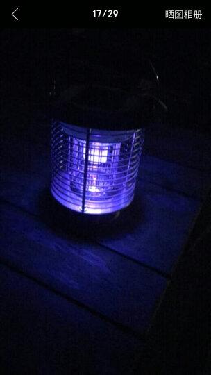 爱尚品太阳能灭蚊灯家用户外灭蚊器庭院花园灭蚊神器 3891高配黑色(带地插) 晒单图