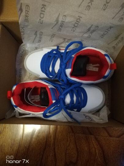 鸿星尔克童鞋男儿童运动鞋大童男鞋轻便网面跑步鞋 正白/大学红0062 39 晒单图