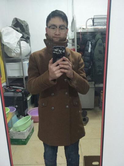 vanuucci男士羊毛呢大衣中长款加厚款青年呢子大衣冬季韩版妮子外套风衣 83555卡其色 L/(125-142斤) 晒单图