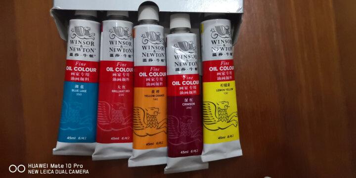 温莎牛顿油画颜料画家专用油画颜料45ml/170mlx55色初学者大容量油彩颜料管支单支-1 中黄 45ml 晒单图