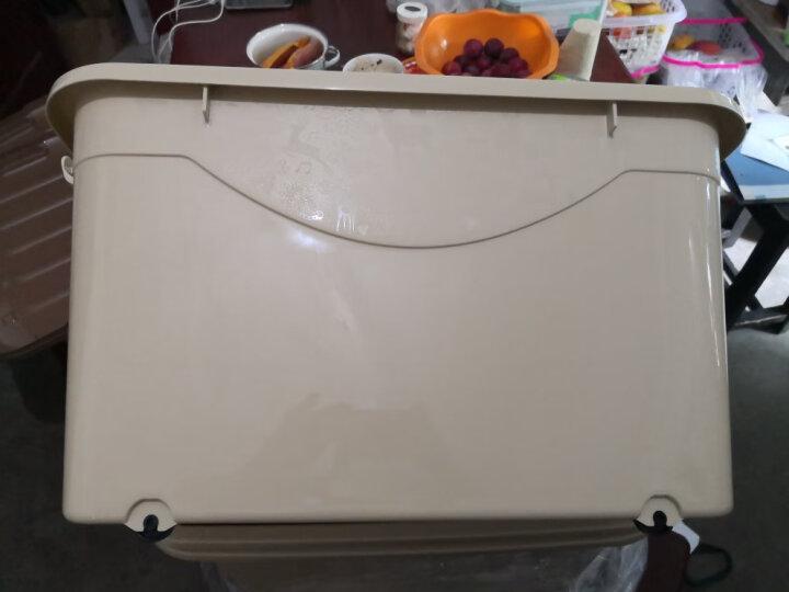 禧天龙Citylong 60L大号卡其色收纳箱带滑轮环保塑料储物箱家用整理箱3个装 6063 晒单图