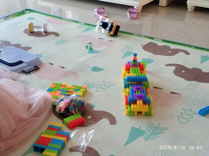育儿宝(Yu Er Bao)400粒盒装积木 儿童玩具大颗粒拼装拼插积木塑料男女孩宝宝早教益智礼物 晒单图