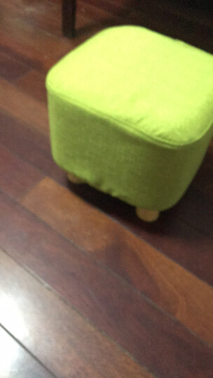 乐高赫曼 凳子 家用实木布艺客厅小板凳沙发凳矮凳脚凳时尚创意换鞋凳 抹茶绿LG-015 晒单图