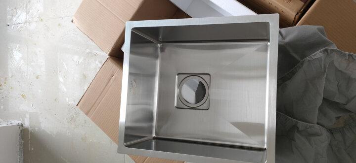 阿萨斯(ASRAS)2643B 不锈钢手工水槽 单槽套餐 厨房台下洗菜盆 不含龙头 A(26*43cm) 晒单图