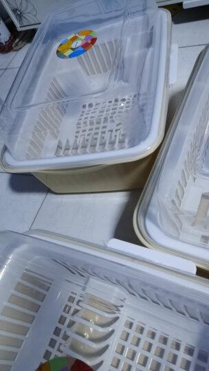 沃德百惠(WORTHBUY)碗架碗柜碗筷收纳盒沥水架碗碟架厨房置物架收纳柜 卡其大号 晒单图