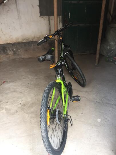 永久24速自行车前后减震折叠山地车 双碟刹男女士休闲车学生变速单车软尾越野车 F18 黑绿色 晒单图