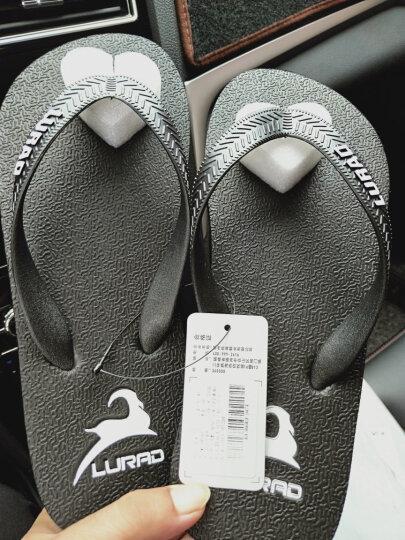 路拉迪 人字拖男夏季沙滩拖鞋男士防滑凉拖鞋 灰色 41-42 晒单图