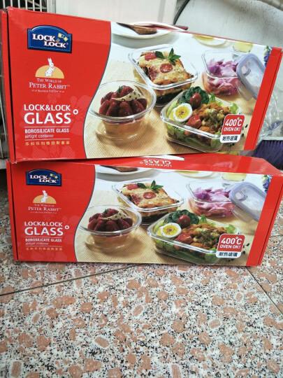 乐扣乐扣(LOCK&LOCK)耐热玻璃饭盒 格拉斯玻璃保鲜盒三件套(750+500+380ml) LLG224S010PR 晒单图
