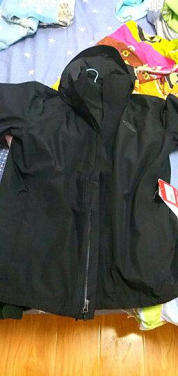 北面(The North Face) 冲锋衣男 防水透气耐磨防风雨外套 2UBL/366T 3CIQ-ZLY/黑色(双层压胶) XL-180 晒单图