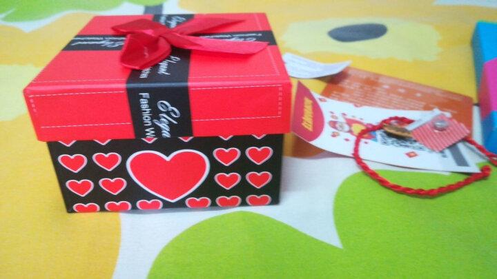 手表可爱时尚夜光手表皮带表防水女士手表女高中学生韩版简约潮流 水钻款—红色(送黑色表带) 晒单图