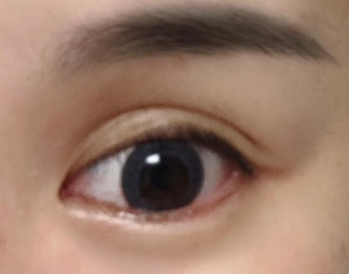 博士伦蕾丝明眸美瞳彩色隐形眼镜日抛 5片装 魔法褐黑 单色黑 375度 晒单图