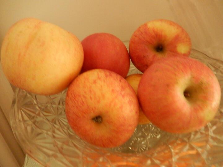 寻真 山东烟台栖霞红富士苹果水果 5-12个 2.5kg 晒单图