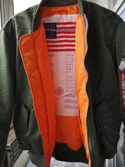 ALPHA INDUSTRIES阿尔法MA-1飞行员夹克男秋冬款军旅工装夹克 黑色(经典款) XXL 晒单图
