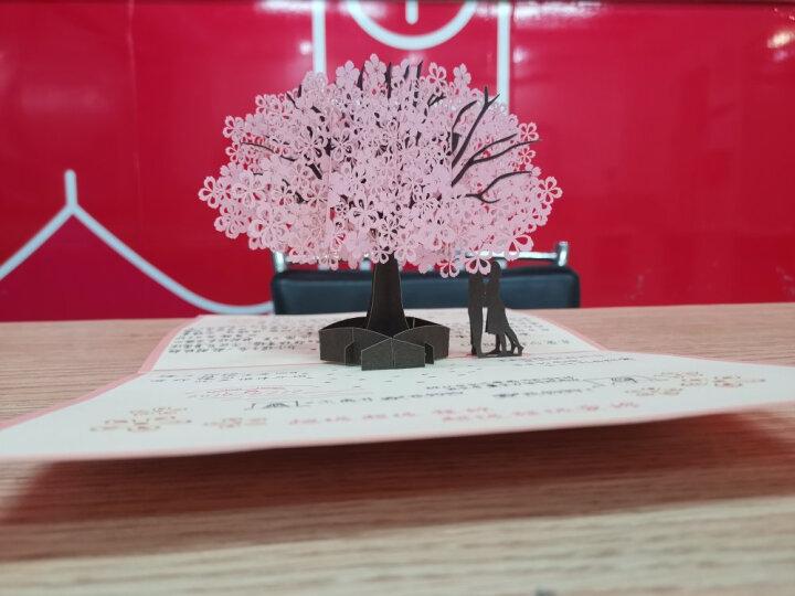 七夕情人节贺卡送爸爸生日贺卡女生贺卡祝福贺卡祝福贺卡幼儿园送爱人3D创意立体贺卡送老师同事感谢同学 烟花 晒单图