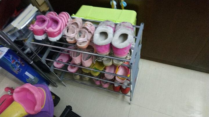 柜冠 鞋柜三四五六层简易宿舍鞋架子 大学生寝室收纳鞋塑料架鞋多层 三层银灰 晒单图