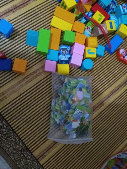 铭塔148粒城市场景积木 婴幼儿童玩具木制质宝宝男孩女孩拼装拼图 1-2-3岁智力启蒙大颗粒桶装生日礼物 晒单图