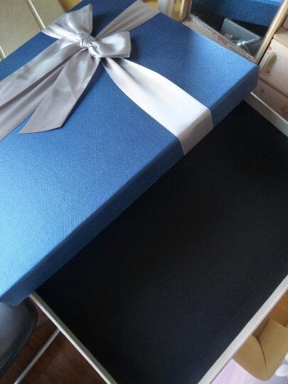 礼盒长方形礼品盒大中小号创意包装盒大号围巾衣服裙子礼物盒子正方形礼盒定制印logo 咖啡色盒子+礼袋 小号28*21*5cm 晒单图