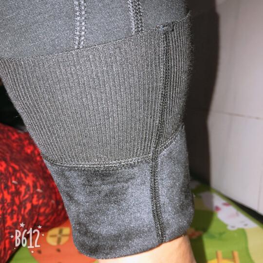 恒源祥男士羊毛裤 加厚羊毛莫代尔修身保暖护膝贴片打底裤 黑色175/100 晒单图