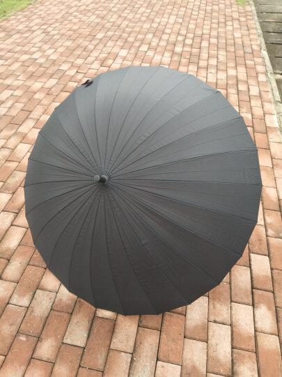 美度 24骨超大男士商务长柄晴雨伞 M5003紫色 晒单图