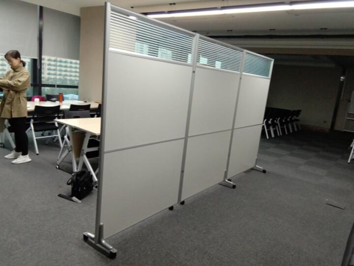 美轩戈上海办公室隔断移动屏风可折叠移动高隔断板式隔墙屏风简约现代 1000*1800一块全班式带铝合金脚 晒单图