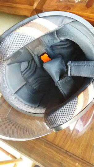 野马(YEMA)电动车头盔 男女通用款式 一年四季可佩戴 助力车冬季半盔 可佩防雾6619 珍珠白配防雾 均码 晒单图