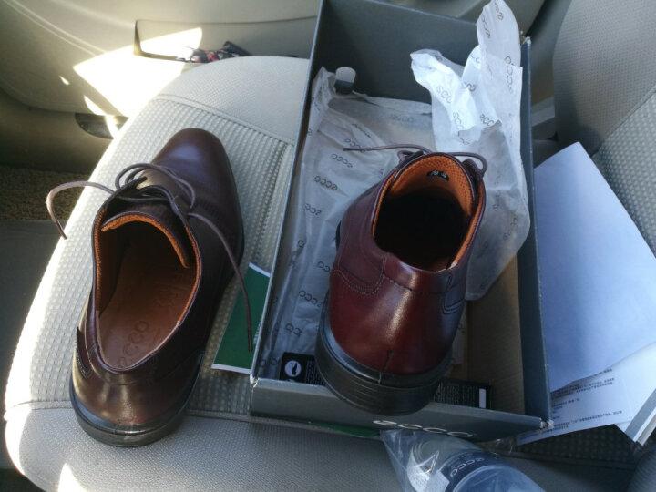 ECCO爱步 时尚青年商务休闲皮鞋 圆头缓震透气舒适系带男鞋 开罗631774 红棕色63177401060 40 晒单图