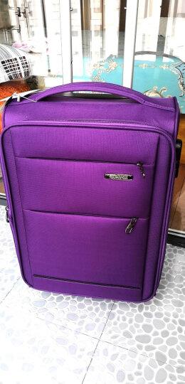 美旅拉杆箱  行李箱经典简约商务防泼水万向轮旅行箱密码锁登机箱 软箱20英寸大容量可扩展26B紫色 晒单图