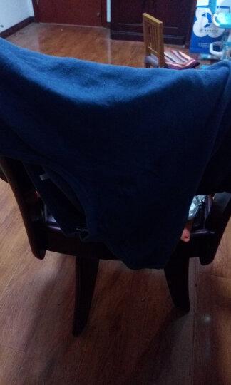 红豆  秋衣秋裤男女纯棉薄款套装 全棉圆领基础打底青少年棉毛衫裤新品中老年保暖内衣 男款黑色 175/100(XL) 晒单图