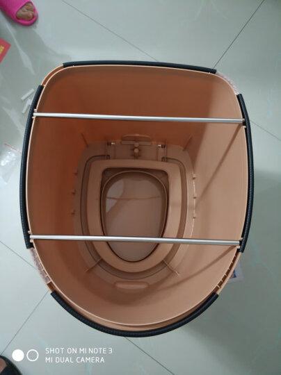 移动马桶老年人坐便器坐便椅老人孕妇马桶便携式简易成人防滑可移动病人室内家用 七代卡其色 /房间用 晒单图