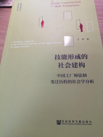 技能形成的社会建构:中国工厂师徒制变迁历程的社会学分析 晒单图
