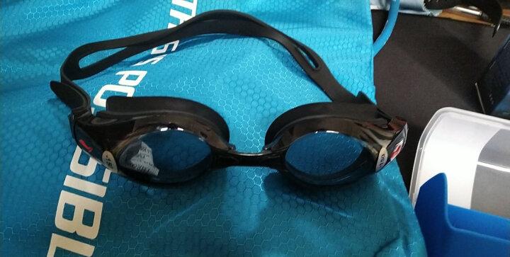 李宁LI-NING 近视泳镜 男女防水防雾高清游泳镜 正品游泳眼镜 LSJK668黑 350度 晒单图