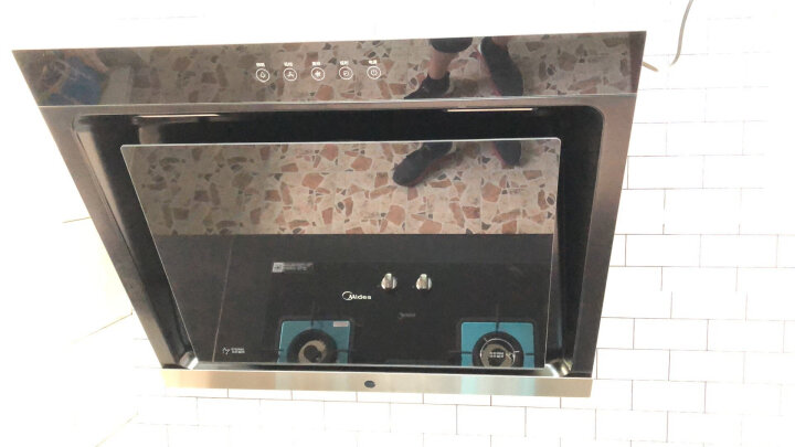 美的(Midea)侧吸抽油烟机 小尺寸 下置风机 四重油烟分离 CXW-200-DJ319 晒单图