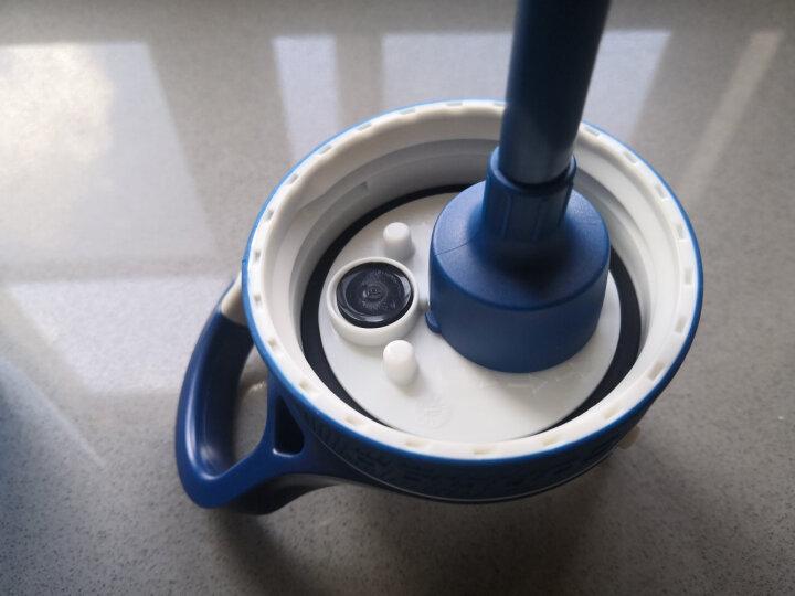 美国contigo康迪克塑料水杯锁扣运动吸管杯750ml蓝色HBC-ASH010 晒单图