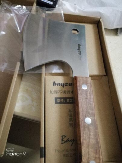 拜格BAYCO 菜刀不锈钢刀具木柄加厚斧头刀砍骨刀斩骨斧BD2860 晒单图