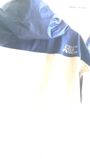 探路者(TOREAD)羽绒冲锋衣 秋冬户外男女情侣款防风保暖羽绒服内胆 TAWF91777 铁蓝灰/藏蓝(男款) L 晒单图