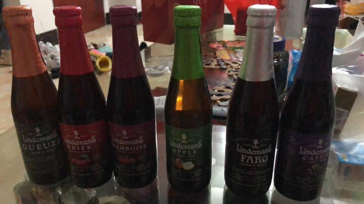 比利时进口啤酒 林德曼 Lindemans 果啤 精酿果味啤酒组合装 山莓 250ml*24瓶 晒单图